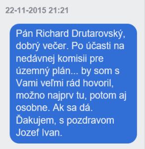 1. Pokus o rozhovor s Ing. Drutarovským cez FB správu