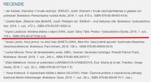 Gény Tálie, recenzia, I. Lukáčová